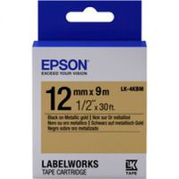 C53S654020 Tape Epson LK4KBM Metallic Blk/Gold 12/9