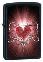 Zippo 28043 Love Heart Black Matte