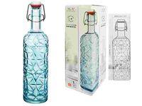 Бутылка с зажимной крышкой Oriente 1l, синяя