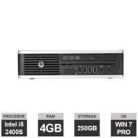 Настольный компьютер HP Elite 8200 (133044) (i5-2400S | 4GB | 250 GB | USDT  | Win 7 PRO)