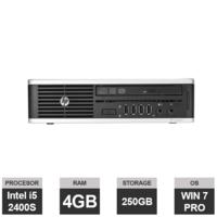 Настольный компьютер HP Elite 8200 USDT (Intel i5-2400S | 4GB RAM | 250 GB HDD | DVD+/-RW | Windows 7 PRO)