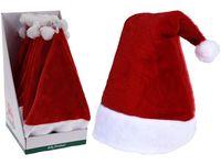 Шапка Деда Мороза классическая 45X30cm, полиэстер