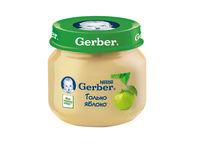 Gerber пюре яблочное, 4+мес, 80г