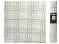 Коврик для душа 54X54cm Quadro Premium белый, резиновый