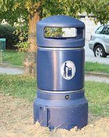 Уличная урна MINI NEOPOLITAN PLAZA, 63L, FIREXPIRE KIT, DARK BLUE, GLSDN