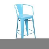 купить Металлический стул 510x530x1040 мм, синий в Кишинёве