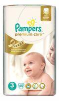 Подгузники Pampers Premium Care 3 Midi (5-9 kg) 60 шт