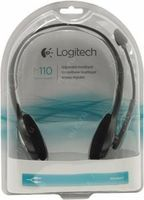 cumpără Logitech Stereo Headset H110, Headphone: 20 - 20,000 Hz, Mic: 100 - 16,000 Hz, 1.8m în Chișinău