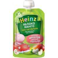 Heinz пюре яблоко и манго,6+мес. 90г