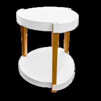 cumpără Masuţă de cafea cu rotile, suprafața din plastic și picioare lemn, în două nivele. 545x610 mm în Chișinău
