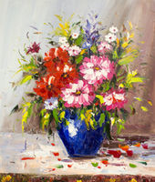 Oil Paintings Spring Bouquet (FLW15000948)