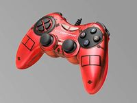 Gamepad Esperanza FIGHTER EGG105R  Red, Vibration Game Pad, 16 buttons, 2 sticks, Ergonomic design, 2 modes (analog and digital), Soft sweat-resistant surface coating, PC Win 7,8,10 compatible, USB