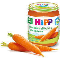 Hipp пюре морковь 4+мес. 125г