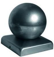 Кованые заглушки с шарами  (10cm x 10cm)