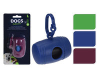 Container pentru sacose la plimbarea cainilor 8X5cm +sacose 15buc