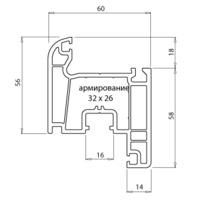 """Montblanc"" Eco Створка (60мм, 2.5мм, Класс Б) с РЕЗИНОЙ"