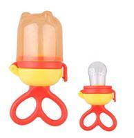 Ниблер для кормления силиконовый 6М+ оранжевый