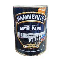 Hammerite Краска для металла Серебристо-серая молотковая 2.5