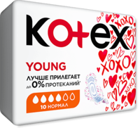 Absorbante zile critice Kotex Young Normal, 10 buc.