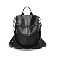 Женский рюкзак, мягкие рюкзаки из натуральной кожи, элегантная женская сумка на ремне