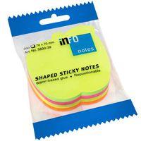 Info Notes Бумага клейкая INFO 70x70мм/4цв., 200 листов, Apple неон