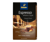 Tchibo Espresso Milano Style, молотый кофе 250 г