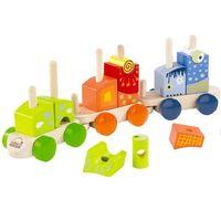 Hape Деревянный Паровозик с кубиками