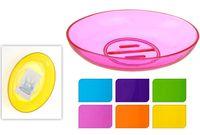 Мыльница прозрачная разных цветов, пластик