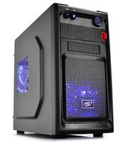 """DEEPCOOL """"SMARTER LED"""" Micro-ATX Case,  without PSU, Fully black painted interior, VGA Compatibility: 320mm, CPU Cooler Compatibility: 165mm, support backplate cable management design, 1x 2.5"""" Drive Bays, 1xUSB3.0, 1xUSB2.0 /Audio, Black"""