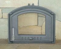 Дверца чугунная со стеклом правая DCHS4