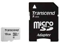 Сard de memorie Transcend MicroSD 16Gb (Class 10) UHS-I +SD Adapter (TS16GUSD300S-A)
