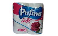 Туалетная бумага Pufina Soft 4 рулонов двухслойная