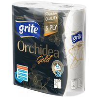 Полотенце бумажное GRITE Orhidea Gold 3-слойная, 2 рул
