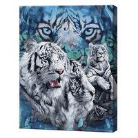 Tigrii albi, 40х50 cm, pictură pe numere Articol: GX25267