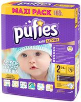 Pufies подгузники Baby ArtDry Mini 2, 3-6 кг, 76 шт.
