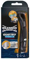 Бритва для мужчин Quattro Titanium Precision, 4 лезвия, 1 сменная лезвия