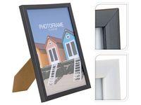 Rama foto din lemn 15X20cm, alba/neagra