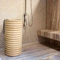 Раковина для ванной травертин SP-23, 42 х 83 см