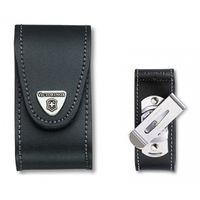 Чехол кожаный Victorinox Belt Pouches w rot belt clip, 91 mm, 5-8 layers, leather black, 4.0521.31