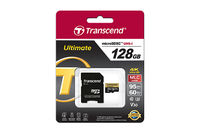 128GB MicroSDHC Transcend TS128GUSDU3M Ultimate, Class 10, SD adapter, UHS-I, U3M