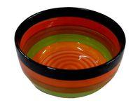 купить Салатница керамическая D14cm, H6.5cm, разноцветные полоски в Кишинёве