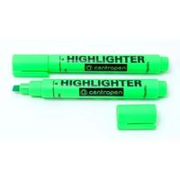 Marker Centropen text 1-4.6 mm verde în formă de pană
