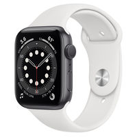 Apple Watch Series 6 GPS, 44mm Aluminum Case with White Sport Band