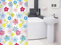 Штора для ванной комнаты Tatkraft FLOWERS 14497