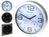 Часы настенные круглые 30.5cm с термометром и барометром