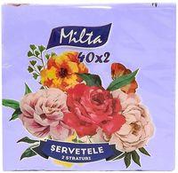 Салфетки столовые MILTA 33x33см, 2-сл, 40 штук сиреневый