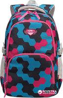 Ghiozdan pentru adolescenți CFS I albastru cu roz
