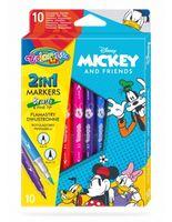 Set de carioci 2 în 1, 10 culori- Colorino Disney Mickey Mouse