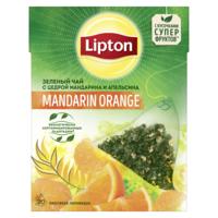 Lipton Nirvana зеленый чай Mandarine Orange, 20 пак.