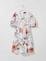 Платье MOHITO Белый с принтом zz386